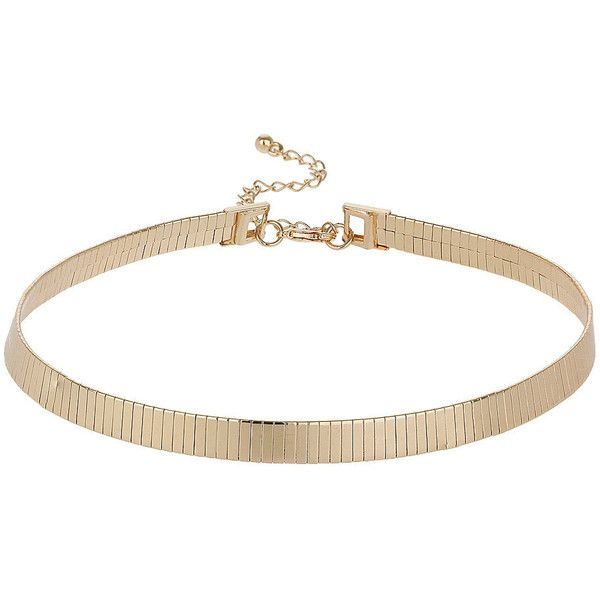 TOPSHOP Plain Cap Collar (165 NOK) ❤ liked on Polyvore featuring jewelry, necklaces, accessories, bracelets, colares, gold, topshop jewelry, collar necklace, topshop necklace and collar jewelry