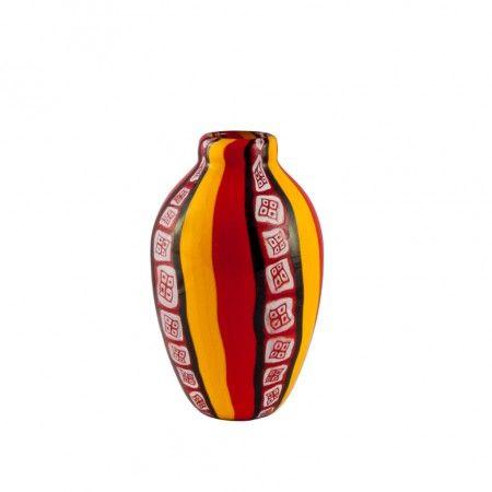 #Vase en #verre de #Murano travaillé entièrement à la main utilisant la technique ancienne de maîtres verriers de #Murano. Nos #vases sont des œuvres d'art uniques, et de légères différences de couleur sont considérés des vertus ou des caractéristiques du produit. Chaque produit est livré avec un COURRIER ASSURÉ AU 100%.