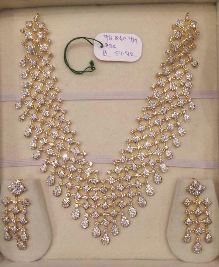 CZ Stones Necklace Set