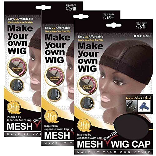 (3 Pack) Qfitt Mesh Dome Style Wig Cap #5011  //Price: $ & FREE Shipping //     #hair #curles #style #haircare #shampoo #makeup #elixir
