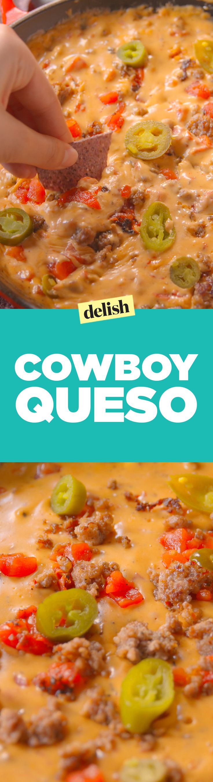 This cowboy queso is the only way you'll want to use a block of Velveeta from now on. Get the recipe on Delish.com.