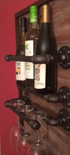 Wine Rack made from Reclaimed Wood and by AwesomenessReclaimed