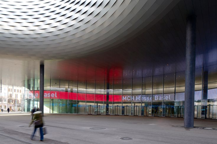 messe basel hall' by herzog & de meuron, basel, switzerland