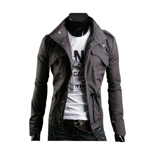 Coffetime-Herren Slim Fit Military Jacken Mantel Rider Zip Hoodie - Jetzt  bei ya!