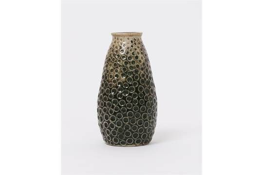 A Martin Brothers stoneware gourd vase by Edwin & Walter Martin, dated 1904, tall, tapering cylin
