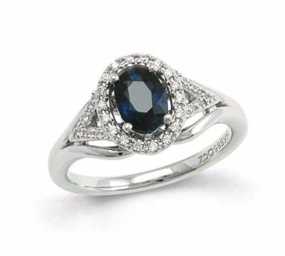 Ring Giveaway - Enter to Win this Gorgeous White Gold, Blue Sapphire and Diamond Ring Appraised at $1400!