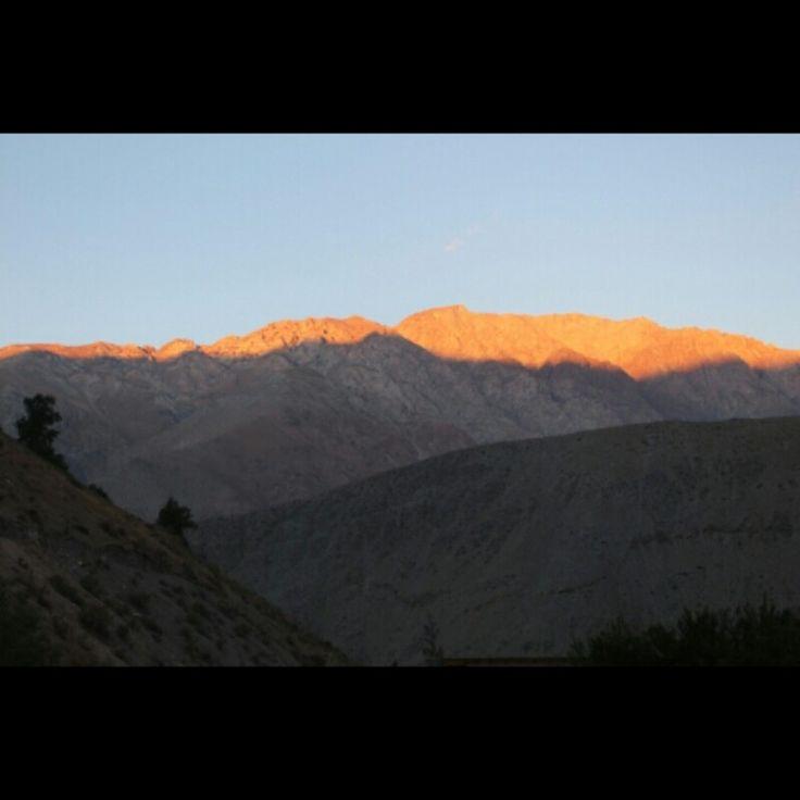 Cerros del Valle del Elqui, vista desde Pisco Elqui.