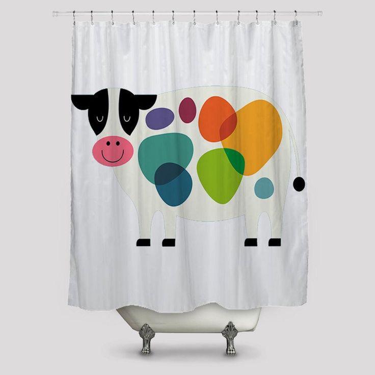 Moooo Shower Curtains