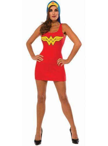 Robe costume à capuche Wonder Woman femme