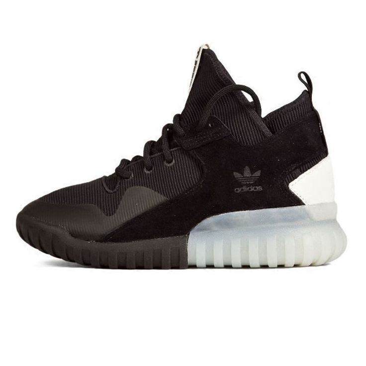 Adidas Tubular X Originals Mens Sneakers Running Shoes Black Black White  S74924