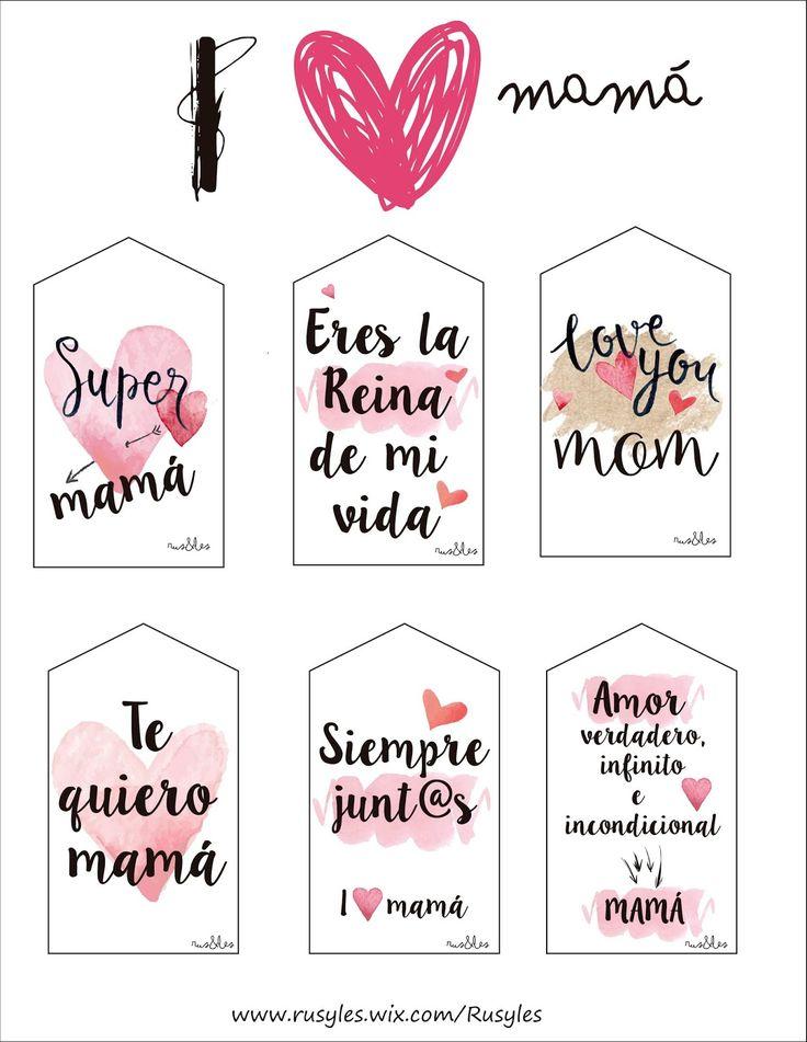 Buenos días !!     Aquí tenéis etiquetas que las podéis descargar las veces que queráis para esos regalos llenos de amor para las mejor...