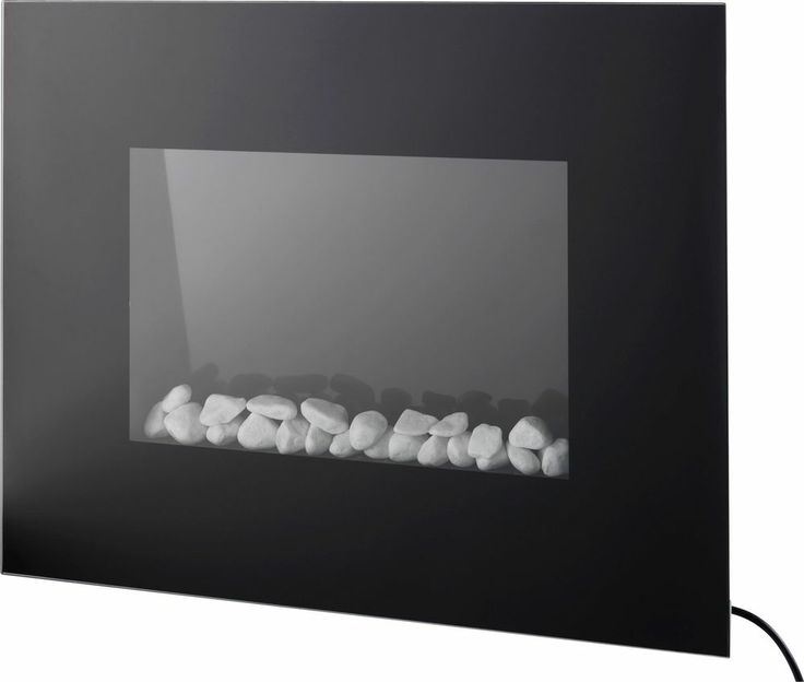 Prolectrix Black Wall Hung Electric Fire.