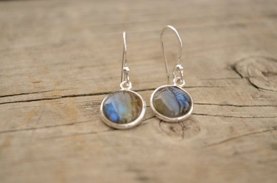 Genuine Newfoundland LABRADORITE Sterling Silver Earings e48 on Etsy, $30.00 CAD