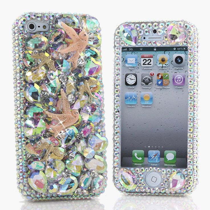 Bling Cases, Handmade 3D crystals dove design case for iphone 5, iphone 5s, iphone 6, Samsung Galaxy S4, S5, Note 2, Note 3, LG, HTC, Sony – LuxAddiction.com