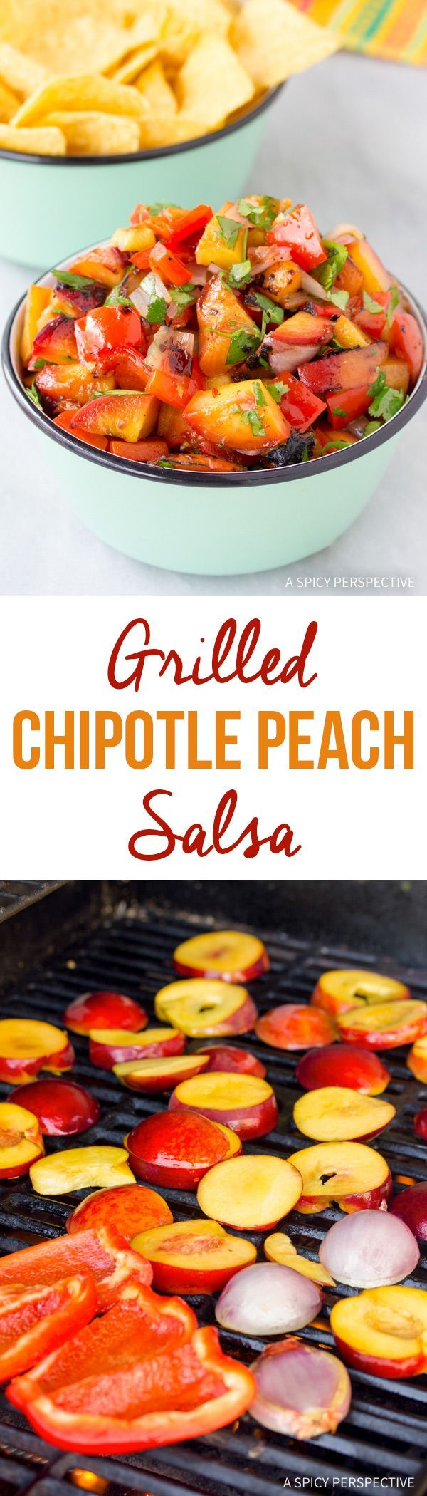 Tangy Grilled Chipotle Peach Salsa Recipe