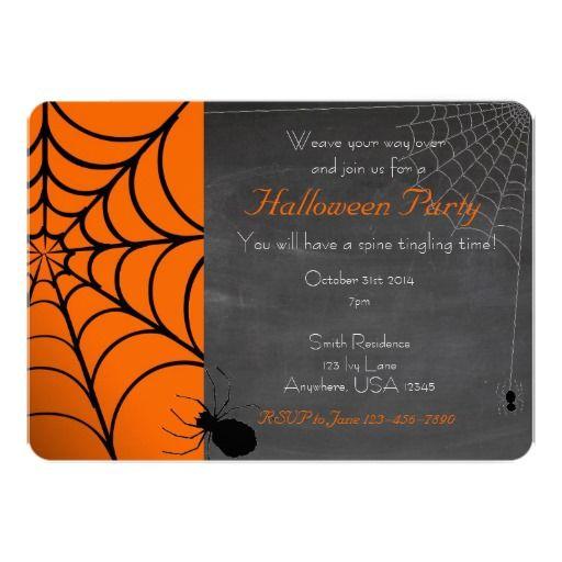 Convite de festas do Dia das Bruxas da Web de                              …