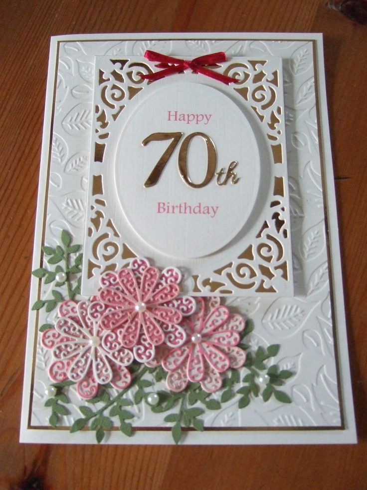 1000 images about 70th birthday cards – Handmade 70th Birthday Cards