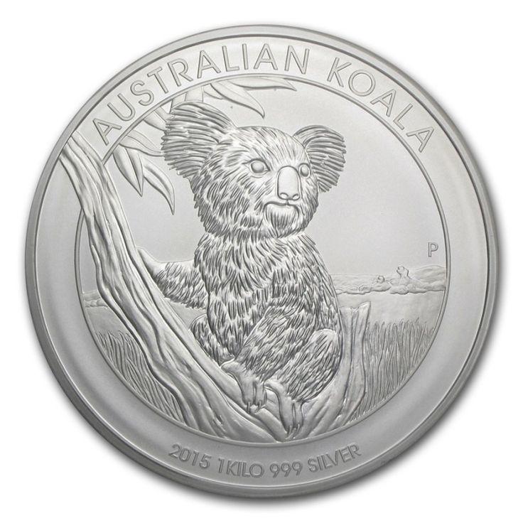 1 kg 2015 Australian Koala Silver Coin 999 Obverse