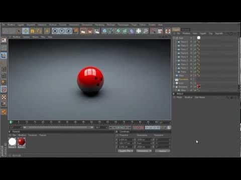 Tutorial Cinema 4D - Palla da Bowling effetto realistico (beginner) - YouTube