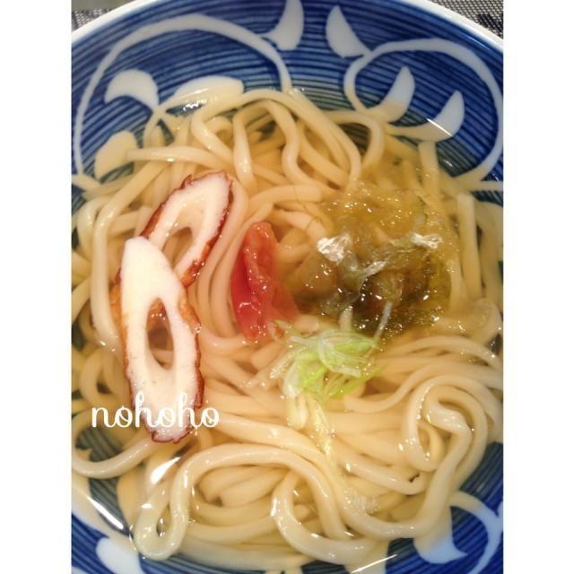 レシピとお料理がひらめくSnapDish - 15件のもぐもぐ - 梅おぼろ昆布うどん by nohoho
