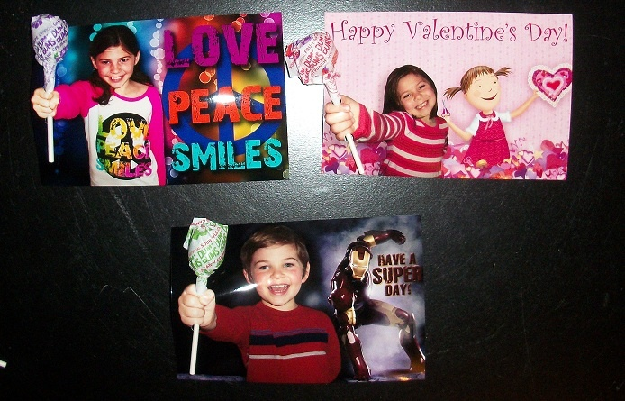 Photo Valentines w/ Photoshop character backgrounds
