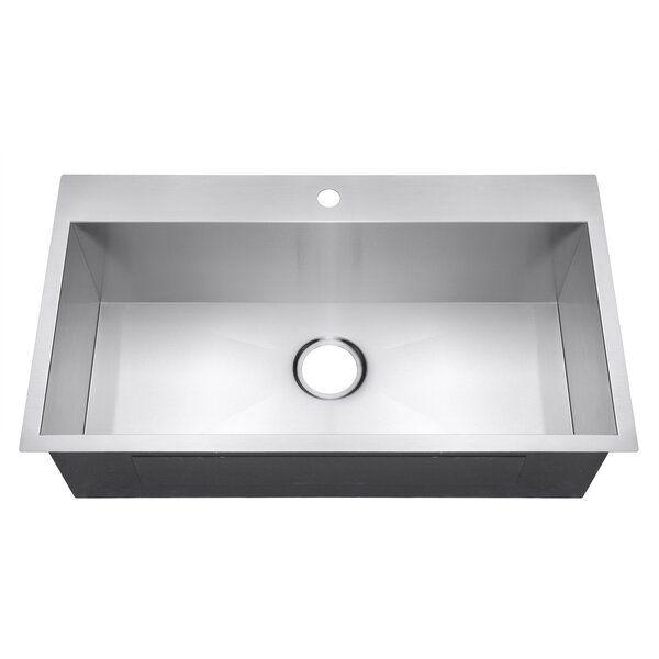 Handmade Stainless Steel 33 L X 22 W Drop In Kitchen Sink In 2020 Drop In Kitchen Sink Single Basin Kitchen Sink Single Bowl Kitchen Sink