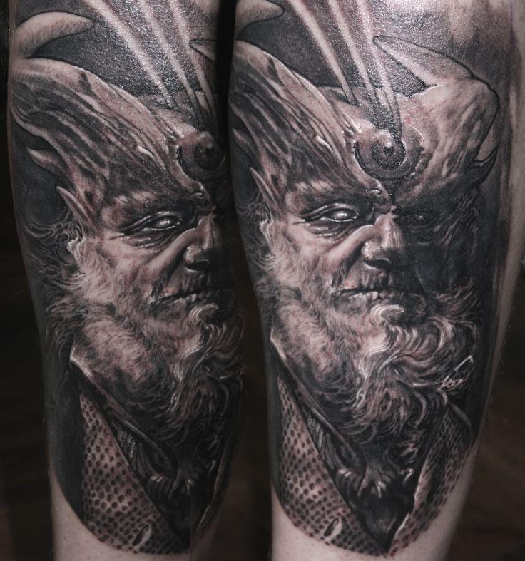 old man tattoo