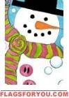 Snowball Snowman House Flag