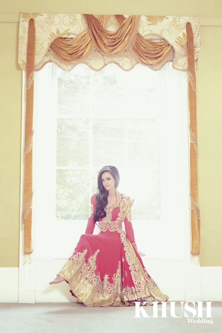 Pink & Gold Bridal Anarkali by Ekta Solanki  T: +44(0)7957 465 901  E: info@ektasolanki.com  W: ektasolanki.com  As seen in the Autumn 2013 Issue of Khush Wedding Magazine