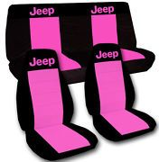 Pink Jeep Seat Covers