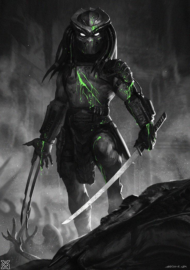 Predator——Alien Butcher 3H I saw a lot of people talking about Female predator 's 'breasts in Facebook,but in my opinion, I just want to make a difference between them and the male, and join my own opinion.Anyway the series is temporary over~XD Next I will draw some male predator close to the film prototype~~Thank you all for giving me advice, I love you all~~!