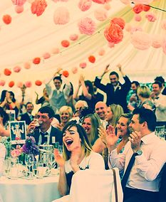 Our Pom bunting.. we made 300 of these for a stunning effect in a wedding marquee