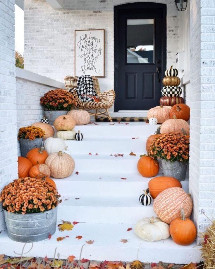 49 Einfache Herbst Veranda Dekor Ideen zu inspirieren