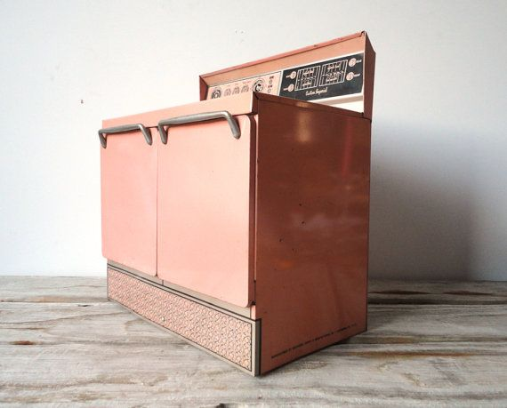 1960s Girls Mini Frigidaire Pink Oven by GallivantingKids on Etsy, $45.00  I had one of these when I was little!