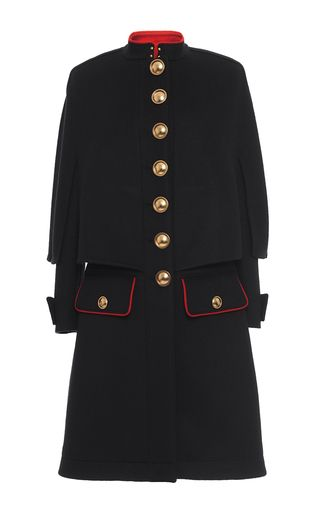 Cashmere Military Cape Coat by BURBERRY for Preorder on Moda Operandi