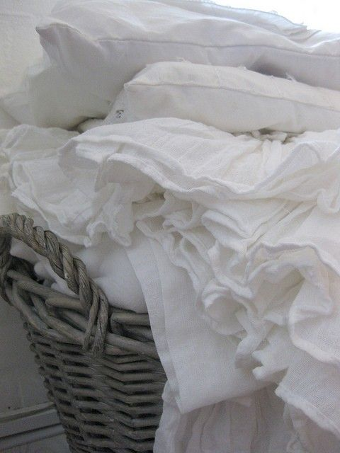 Wash day of white linens