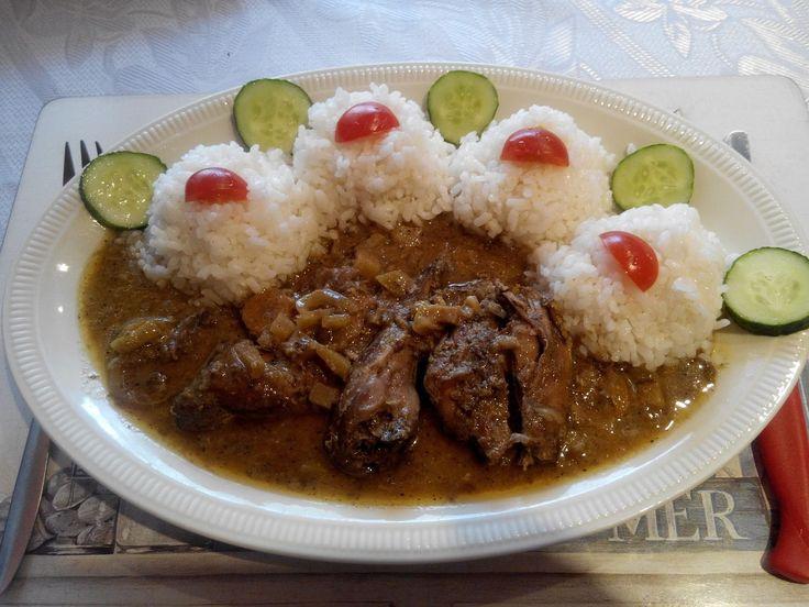 Bažant na špeku a zelenině s rýží