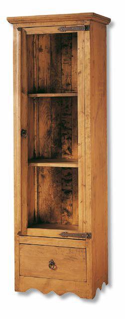 #vitrina #rustica pequeña de una puerta de cristal estilo #mexicano, con tres estantes interiores, y un cajón inferior, ref: 16149. Más información en: http://rusticocolonial.es/mueble-rustico-y-mueble-mejicano-de-gran-calidad-al-mejor-precio/muebles-de-salon-rusticos-y-mejicanos-de-gran-calidad-al-mejor-precio/vitrinas-rusticas-y-mejicanas-de-gran-calidad-al-mejor-precio/results,16-15