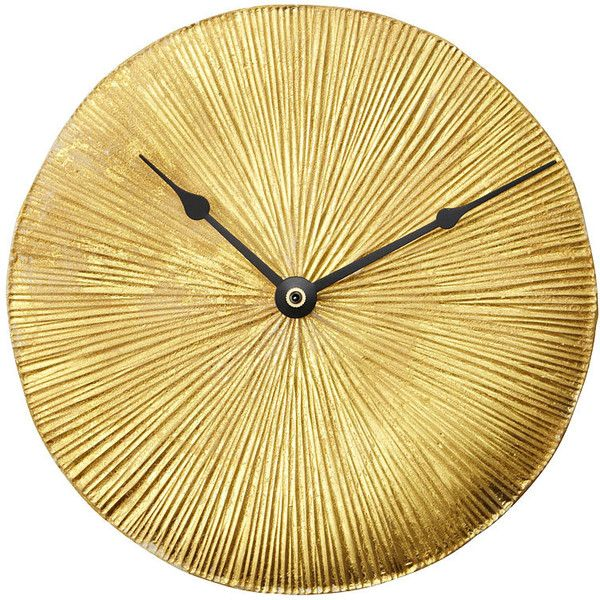 Nanda Soderberg Gold Leaf Wall Clock found on Polyvore ...
