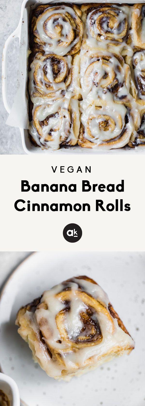 Vegan Banana Bread Cinnamon Rolls