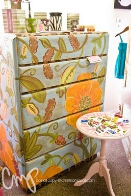 #painted #furniture Those are scentsy burners on top of the dresser!!!