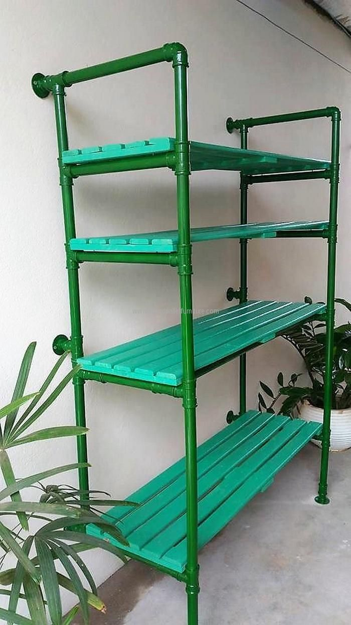 It is an idea for increasing the storage place in any area of the home and this can also be created for the office use. This reclaimed wood pallet storage shelving serves great when placed in the kitchen to store the kitchen items because there are too many items that require a place for storage.