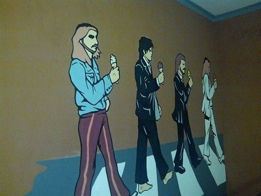 Abbey road on my wall. Looks how Beatles enjoying their trip by ice cream