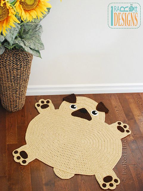 http://www.ravelry.com/patterns/library/the-pugfect-pug-rug