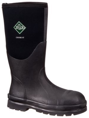 The Original Muck Boot Company Chore Boot All Conditions Steel Toe Work Boots for Men - Black - 11M