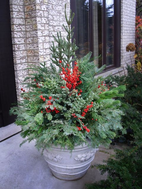 Winter Pot With Winterberries By Chalet Specialty Garden Care Staff