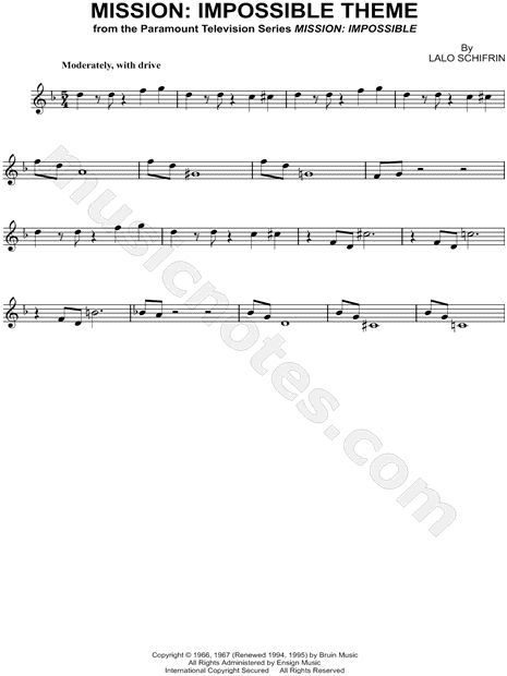 Mission: Impossible Theme sheet music from Mission: Impossible