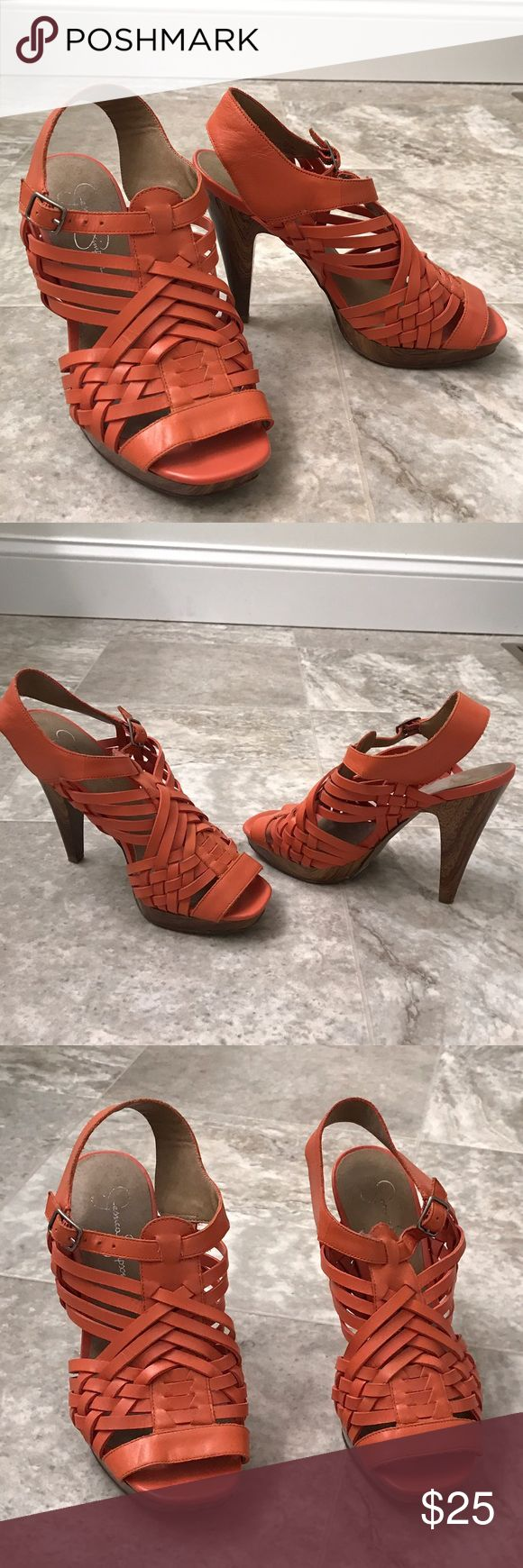 Jessica Simpson Wooden Sandal Stand out from the rest in this eye catching color! Worn only twice! Still in great shape! Jessica Simpson Shoes Sandals