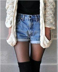 Pour continuer à mettre son short en jeans (trouvé sur Storenvy.com)