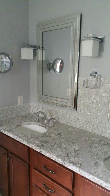 Our updated bathroom-kichler lighting. Moen voss faucet. Cambria quartz summerhill & 43 best Counter ? Backsplash Ideas images on Pinterest ... azcodes.com